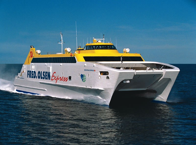 Fred Olsen ferry from Cadiz (Spain) to Las Palmas in Gran Canaria